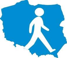Trasa turystyczna Rzyk na przełęcz pomiędzy Leskowcem a Groniem Jana Pawła II