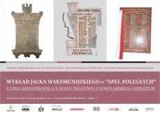 Apel Poległych - wykład Jacka Waksmundzkiego