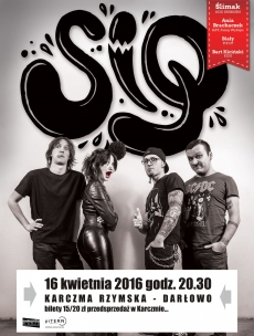 Plakat SIQ  - koncert w Darłowie 16 kwietnia