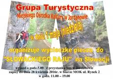 1 maj 2016 - Wycieczka piesza grupy turystycznej MOK do Słowackiego Raju