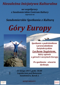 Spotkanie podróżnicze: Góry Europy