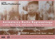 Animatorzy ruchu regionalnego: Z. Wasiewicz, A. Kudasik, M. Staszel