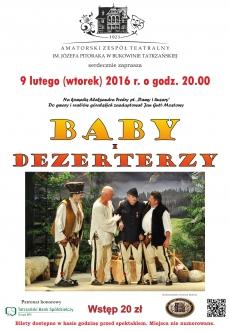 """Sztuka Teatralna """"Baby i Dezerterzy"""""""