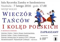 Wieczór Tańców i Kolęd Polskich 2017