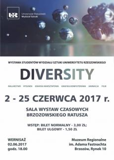 Wystawa Studentów Wydziału Sztuki Uniwersytetu Rzeszowskiego DIVERSITY